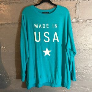 Wildfox oversized Made in the USA - Large NWOT